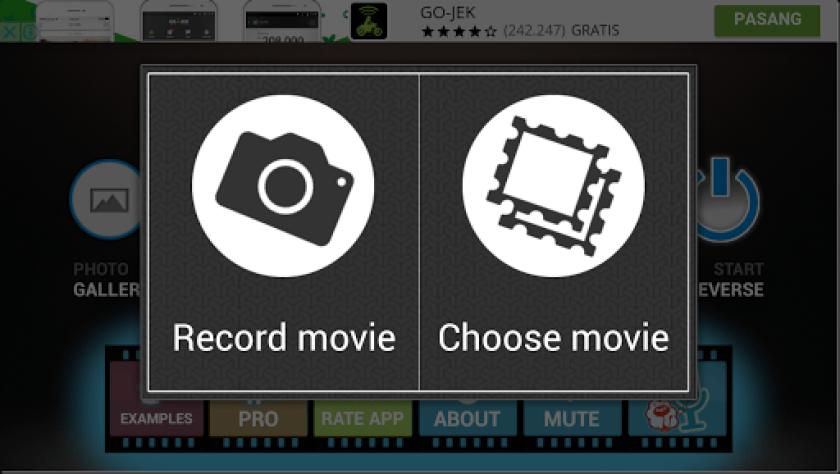 cara membuat  video mundur reverse
