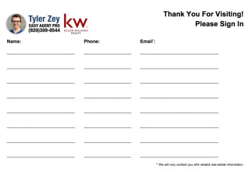 sheet sign open printable templates estate template agent keller williams form simple word easy salon agents pro edit these special