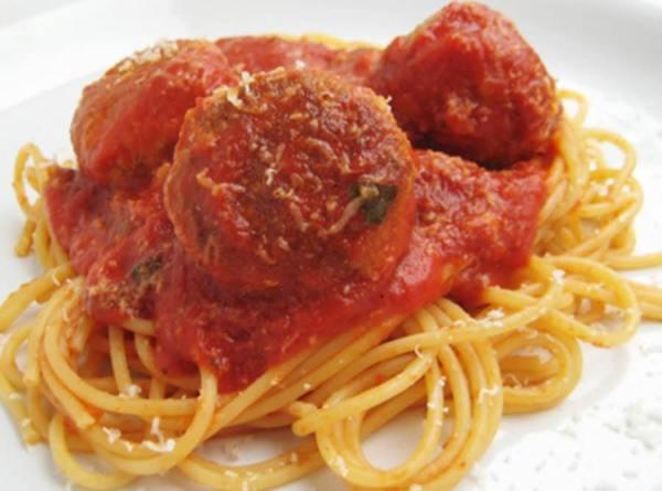 Sunday In Brooklyn Spaghetti Meatballs Recipe Just A Pinch