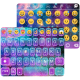 Galaxy Glitter Keyboard Theme windows phone