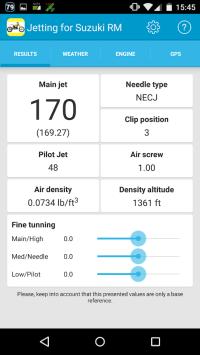 Fmf Jetting Specs