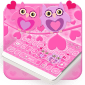 Pink Love Owl Keyboard icon