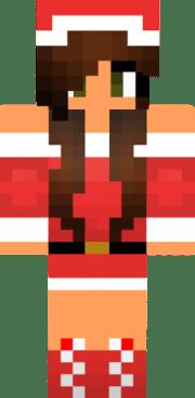 cute christmas girl brown hair med-skin