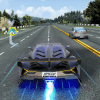 Driving in speed car