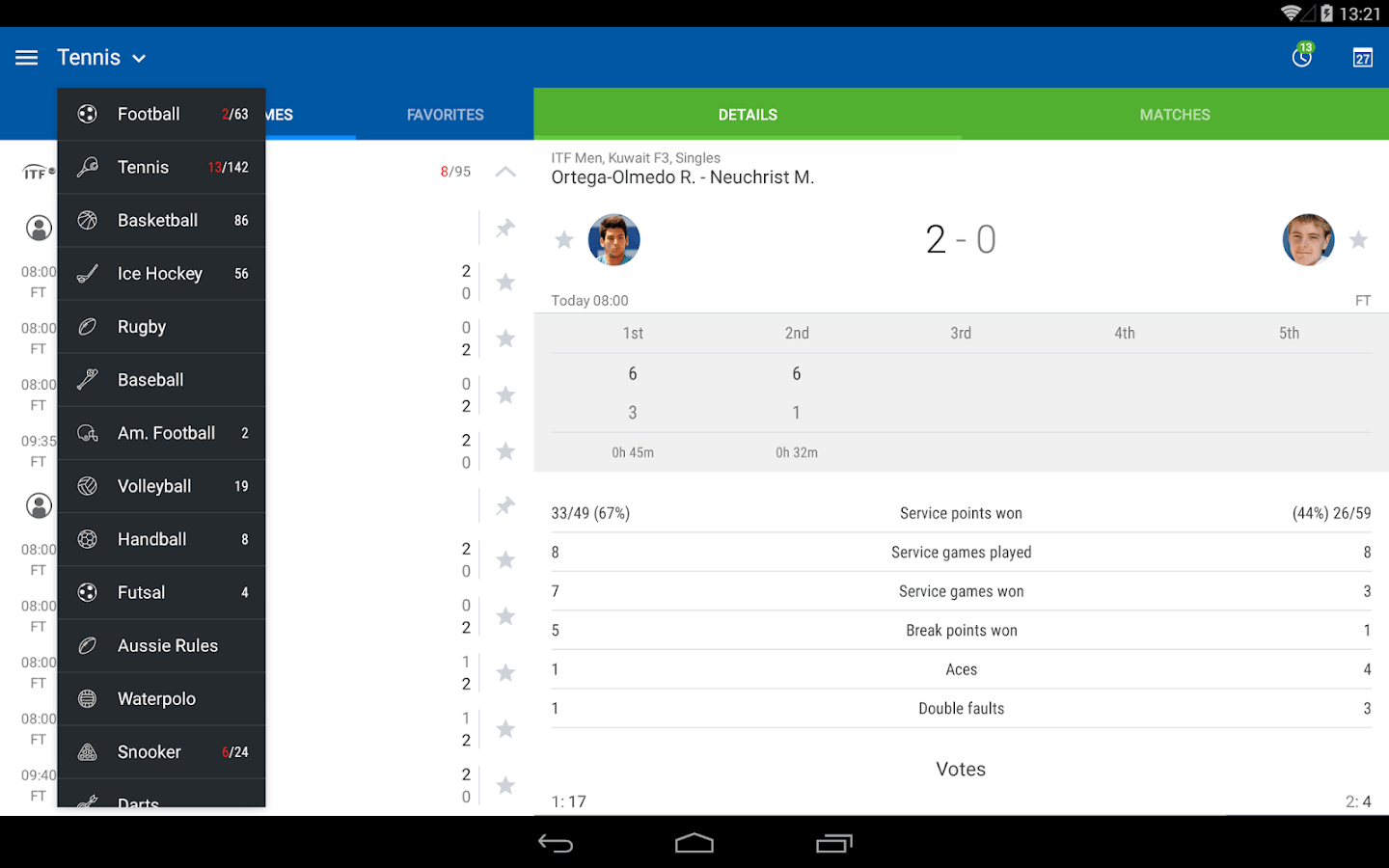 live sofascore chesterfield sectional sofa bed scores android apps on google play