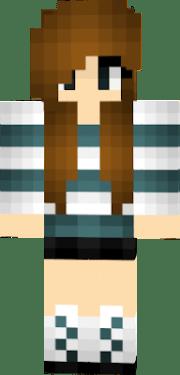 brown hair girl nova skin