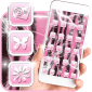 Pink Zebra Theme Cute Launcher icon