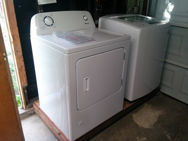 Washer and Dryer arrived - 1944 House