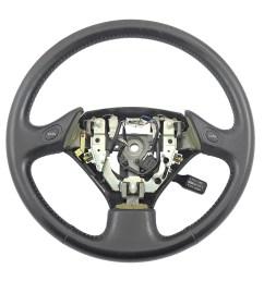 details about 98 05 lexus gs300 gs400 gs430 oem black leather steering wheel cruise aristo 2jz [ 2400 x 1800 Pixel ]