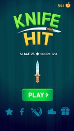 تحميل لعبة رمي السكين Knife Hit مهكرة للاندرويد Mod APK احدث اصدار