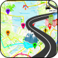 GPS Map Navigation route track icon
