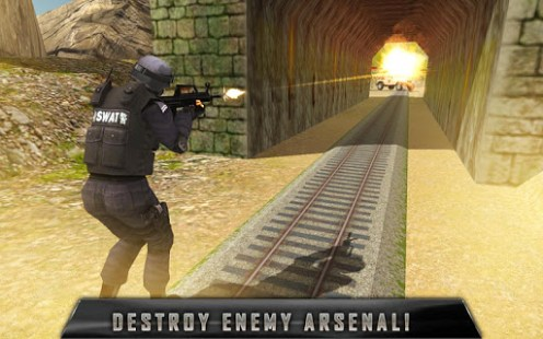 SWAT Train Mission Crime Rescu APK