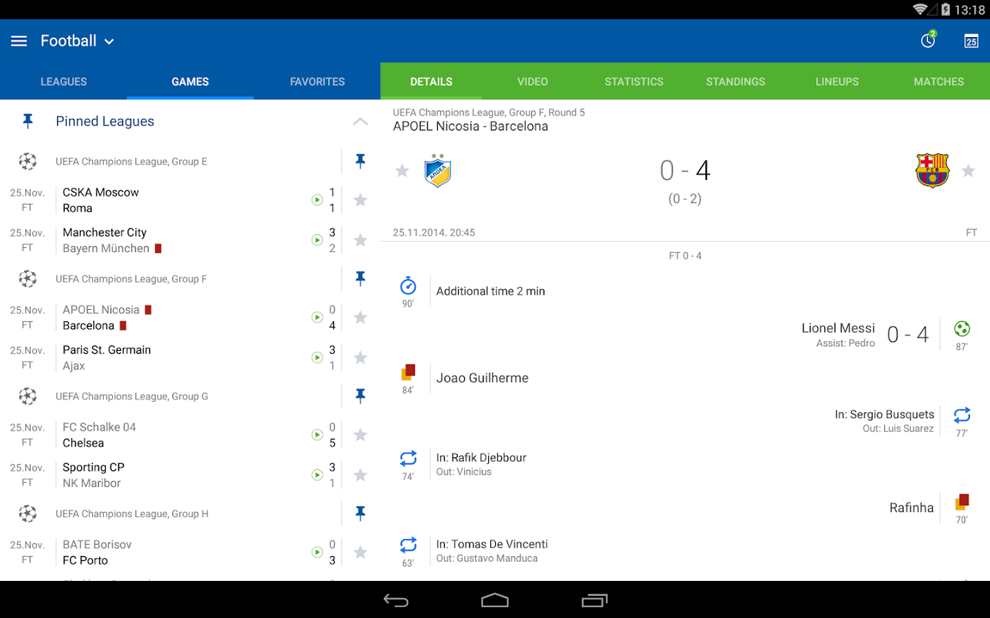 live sofascore recover leather sofa uk scores android apps on google play
