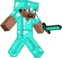 Steve with diamond armor