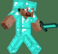 Steve with diamond armor   Nova Skin