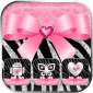 Zebra Launcher Pink Bow Theme icon