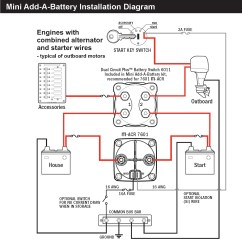 Marine Dual Battery Switch Wiring Diagram Fender Vintage Noiseless Blue Sea 6011 Circuit Plus For