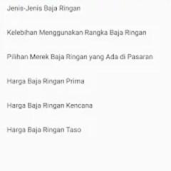 Daftar Harga Baja Ringan Kencana 1 0 Apk Android Apps