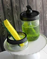 Make an Easy Matching DIY Sponge Holder & Soap Dispenser