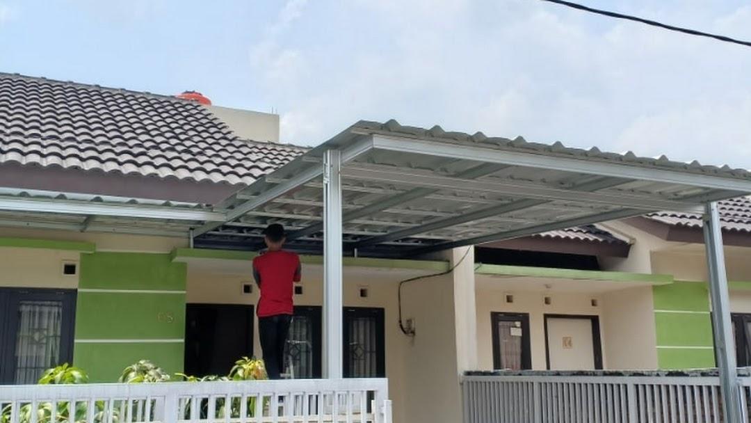 pemasangan baja ringan di bandung distributor atap murah 170rb meter full c0 75