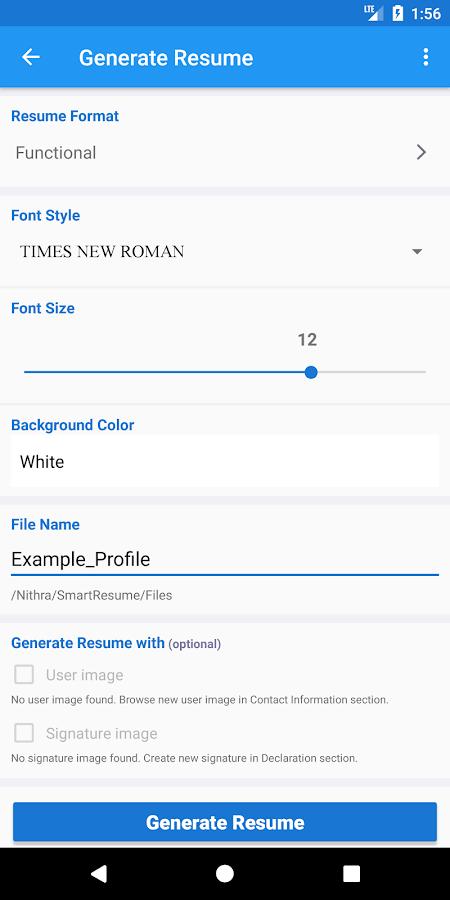 best resume maker app for freshers