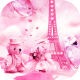 Teddy bear love theme in Paris windows phone