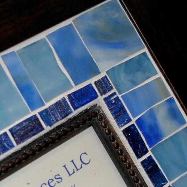 "Blue Medley 5"" X 7"" Mosaic Wall Frame Mof1453 - Beads & Pieces"