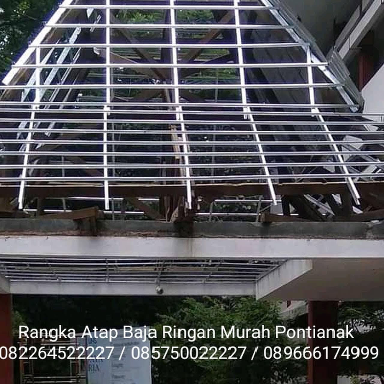 kanopi baja ringan pontianak rangka atap plapon murah jasa tukang