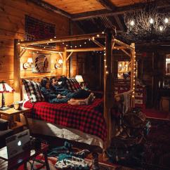 Log Cabin Living Room Decorating Ideas With Grey Suit 27 Interior Design Trulog Siding Cozy