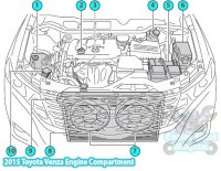 2015 Toyota Venza Engine Compartment Parts Diagram (1AR