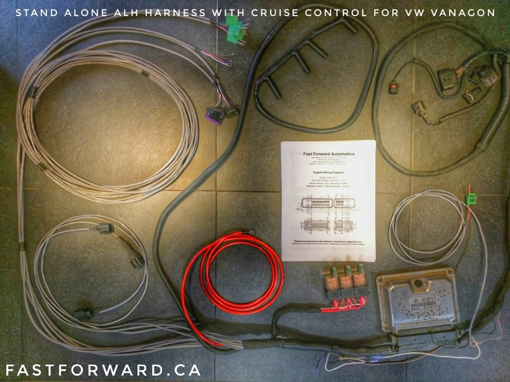 medium resolution of simplified alh tdi harness manufactured for a volkswagen vanagon