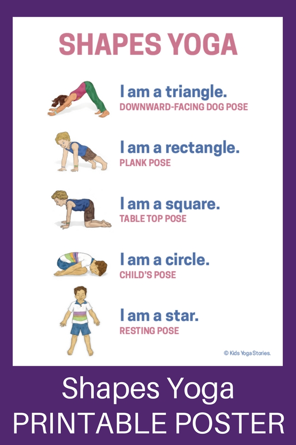 toddler reading chair cover rentals peterborough ontario shapes yoga: how to teach through movement (printable poster) - kids yoga stories | ...