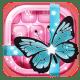 Blue Butterfly Keyboard Themes windows phone