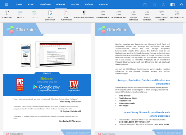 OfficeSuite PDF Editor AndroidApps auf Google Play