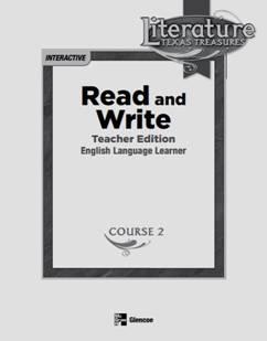 McGraw Hill Glencoe's Read and Write Course 2 Grade 7 Full