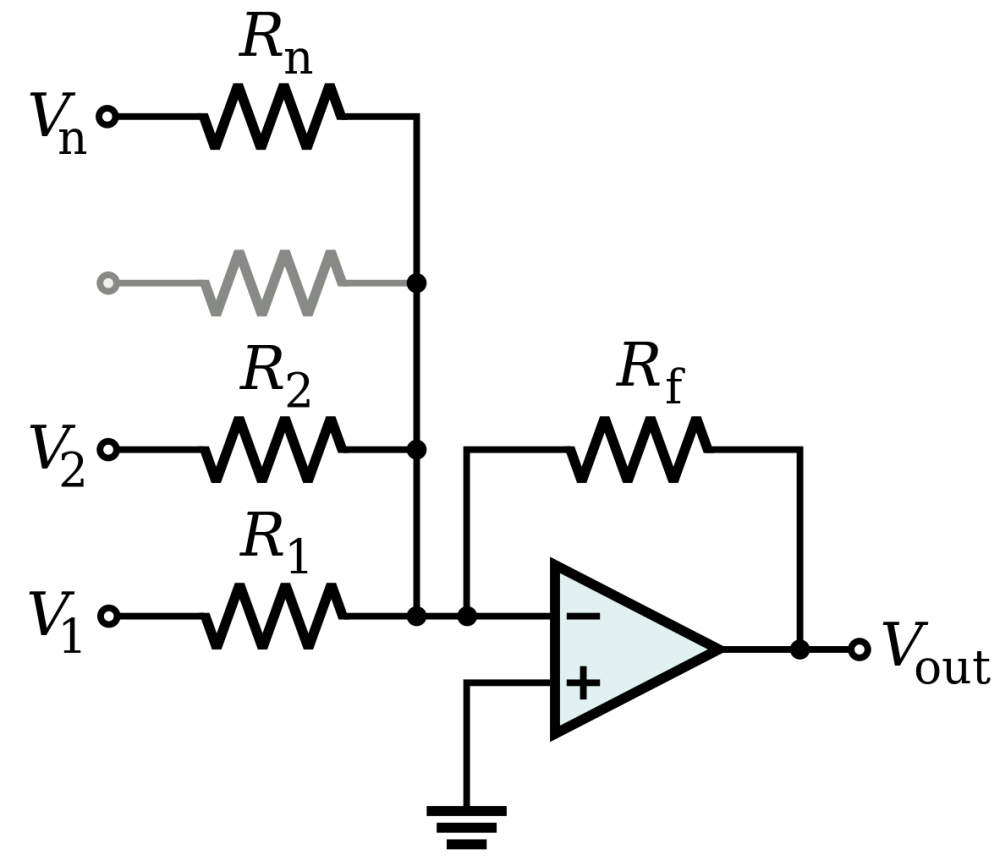 medium resolution of 1182px op amp summing amplifier svg png