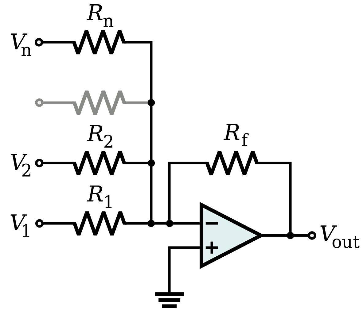 hight resolution of 1182px op amp summing amplifier svg png