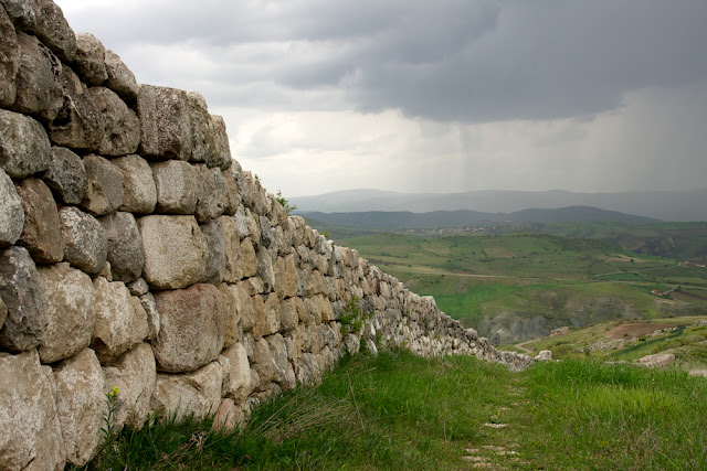 Rain over Hittusan ruins