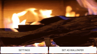 Fireplace Sound Live Wallpaper