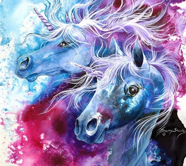 Fire Rainbow Unicorn Pegasus