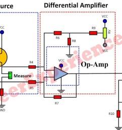 a complete schematic diagram of low resistance measurement meter [ 1366 x 593 Pixel ]
