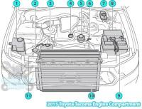 2015 Toyota Tacoma Engine Compartment Parts Diagram (2TR-FE)