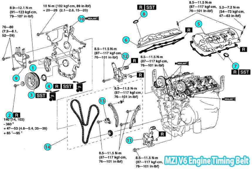 mazda cx 7 engine parts diagram