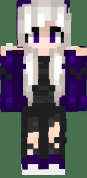 emopukachi emo purple girl white