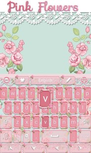 Pink Flowers GO Keyboard Theme APK