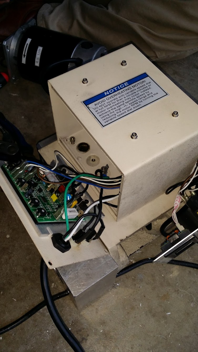 medium resolution of removing the motor speed controller off switch f r box etc we don t need this anymore since its a vfd now though i wanted to keep the rpm part