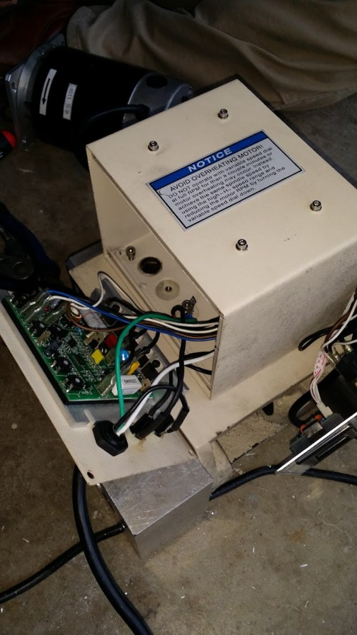 small resolution of removing the motor speed controller off switch f r box etc we don t need this anymore since its a vfd now though i wanted to keep the rpm part