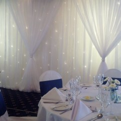 Wedding Chair Covers Burton On Trent Wing Recliner Leather Starlight Backdrop Wall Drapes Backdrops Are Not Available Their Own They Can Be Included Either With Our Cover Packages Or A Selection Of Other Items