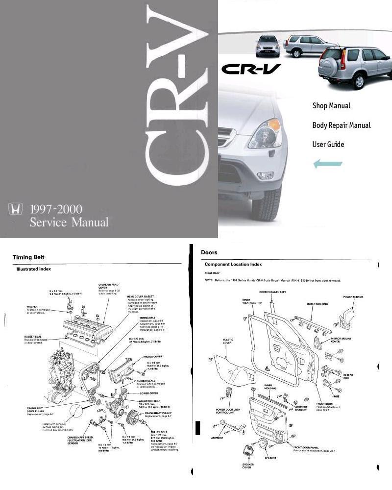 hight resolution of repair manual honda cr v shop manual and body repair manual