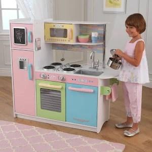 kidkraft toy kitchen nightmare before christmas kids wooden uptown pretend play pink cooking playset pastel